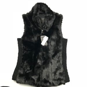 Cavalini Large Vest Faux Fur Lined Zip Front High